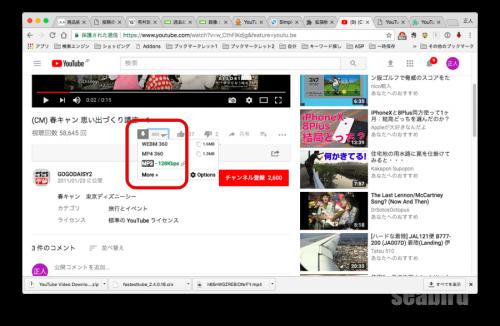 YouTube動画ダウンロードボタン2