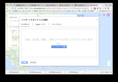 Google Mapインポート画面