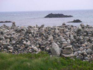 石の段積み