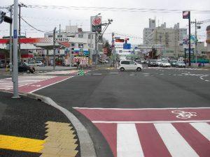 札幌市内国道12号線と環状線の交差点
