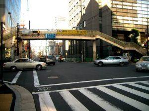 船橋市内の交差点で撮影