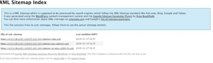 XML Sitemap Index