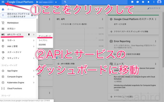 APIとサービス画面