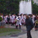 よさこい本祭の演舞見学
